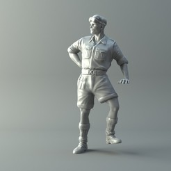 Download 3D printer templates Captain miniature II World War 3D print model, 3D-mon