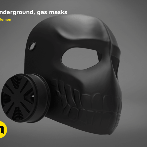Download Stl File Laughing Gas Mask 6 Underground 3d Print Template Cults