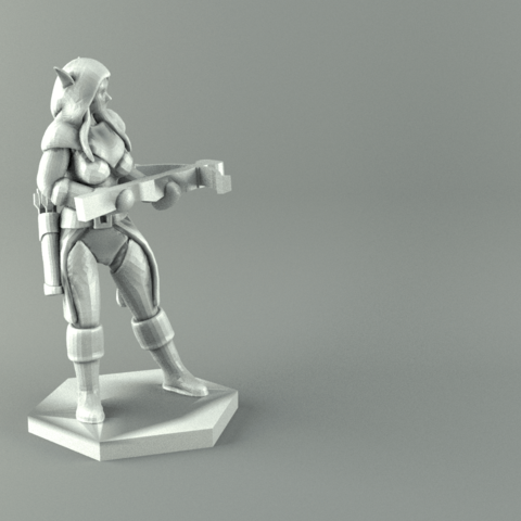 render ranger 2.png Download STL file ELF RANGER FEMALE CHARACTER GAME FIGURES 3D print model • 3D printing object, 3D-mon