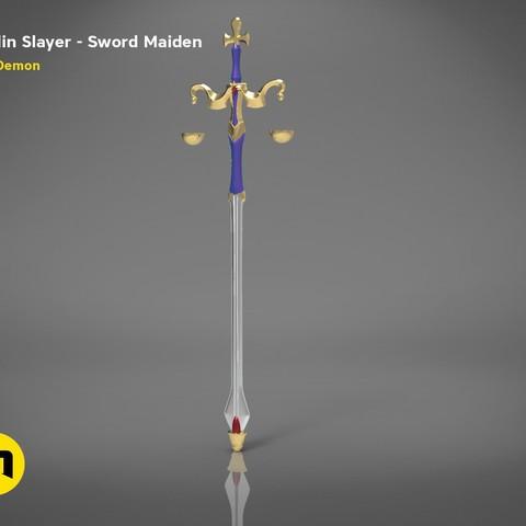 3D print model Maiden sword – Goblin Slayer, 3D-mon