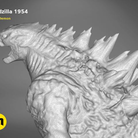 godzilla-black-japanese-detail2.203.png Download free OBJ file Godzilla 1954 figure and bottle opener • 3D printer model, 3D-mon