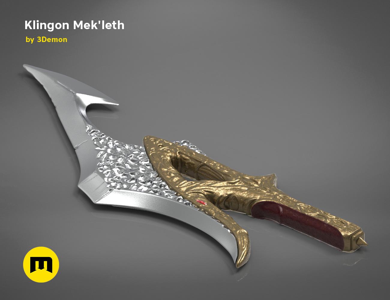 mekleth1_color_render.474.jpg Download OBJ file Klingon Mek'leth - Star Trek • Model to 3D print, 3D-mon