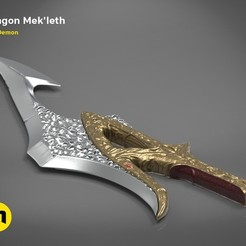 mekleth1_color_render.474.jpg Download OBJ file Klingon Mek'leth - Star Trek • Model to 3D print, 3D-mon
