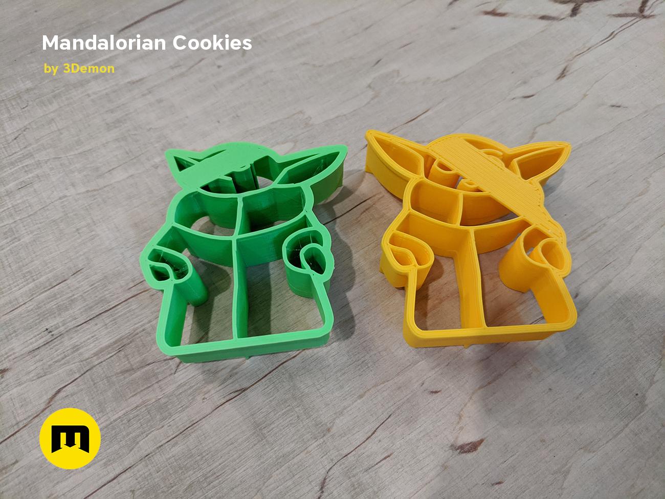 IMG_20191206_153306.png Download STL file Yoda Baby Cookie Cutter Mandalorian • 3D printer design, 3D-mon
