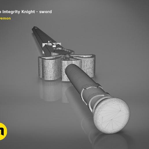 render_scene_Integrity-knight-sword-mesh.23 kopie.jpg Download STL file Kirito's Sword - Integrity Knight • 3D print model, 3D-mon