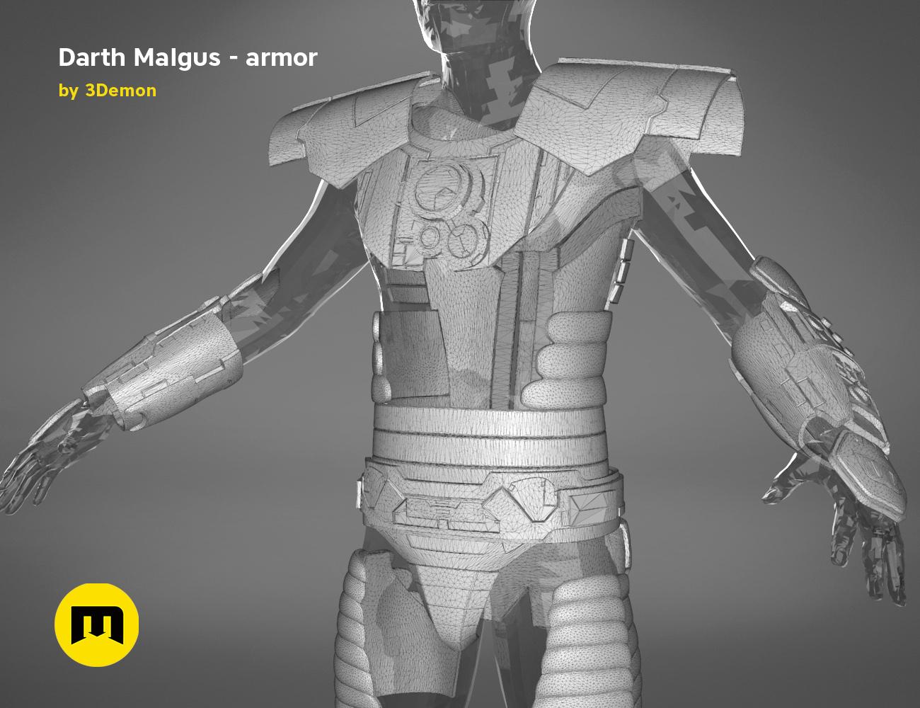 render_scene_darth-malgus-armor-mesh.19 kopie.jpg Download STL file Darth Malgus's full size armor • Design to 3D print, 3D-mon