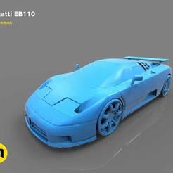 Impresiones 3D El coche deportivo con motor central - Bugatti EB110, 3D-mon