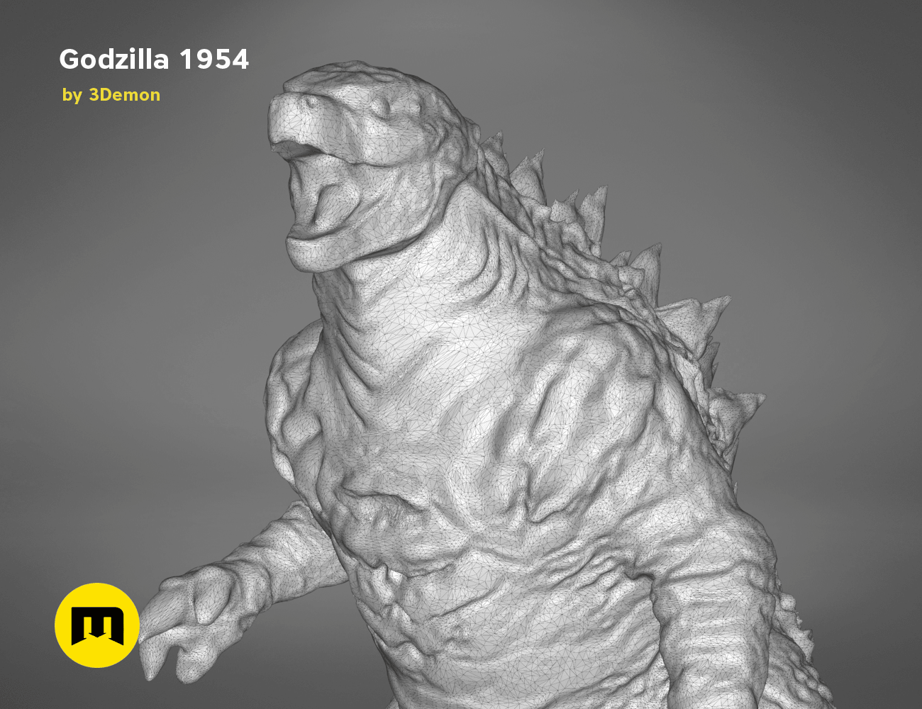 godzilla-black-japanese-detail1.202.png Download free OBJ file Godzilla 1954 figure and bottle opener • 3D printer model, 3D-mon