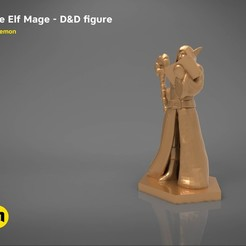STL ELF MAGE CHARACTER GAME FIGURES 3D print model, 3D-mon