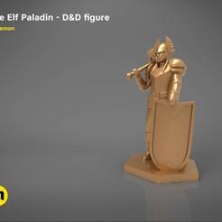 STL file ELF PALADIN CHARACTER GAME FIGURES 3D print model, 3D-mon