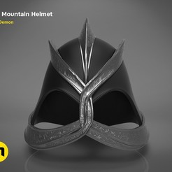 Download 3D printer files THE MOUNTAIN HELMET - GAME OF THRONES , 3D-mon