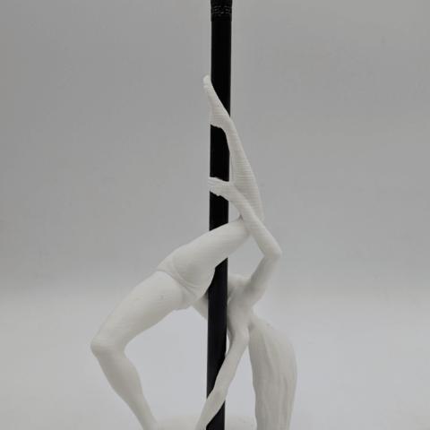 IMG_20190219_142106.png Download STL file Pole Dancer - Pen Holder • Object to 3D print, 3D-mon