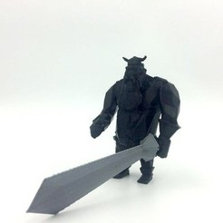 Free 3D print files Lowpoly Viking _ part 2, 3D-mon