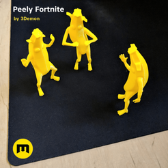 Download 3D printing models Peely Fortnite Banana Figures, 3D-mon