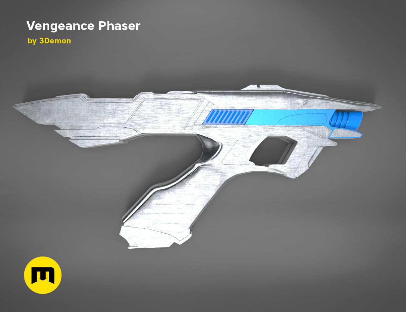 Vengeance-color.336.jpg Download OBJ file Vengeance Phaser -Star Trek • 3D printer object, 3D-mon