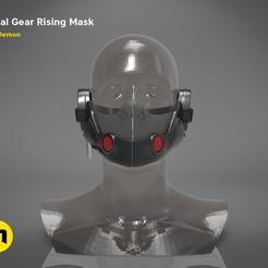 Download 3D print files Gear Metal Rising Mask, 3D-mon