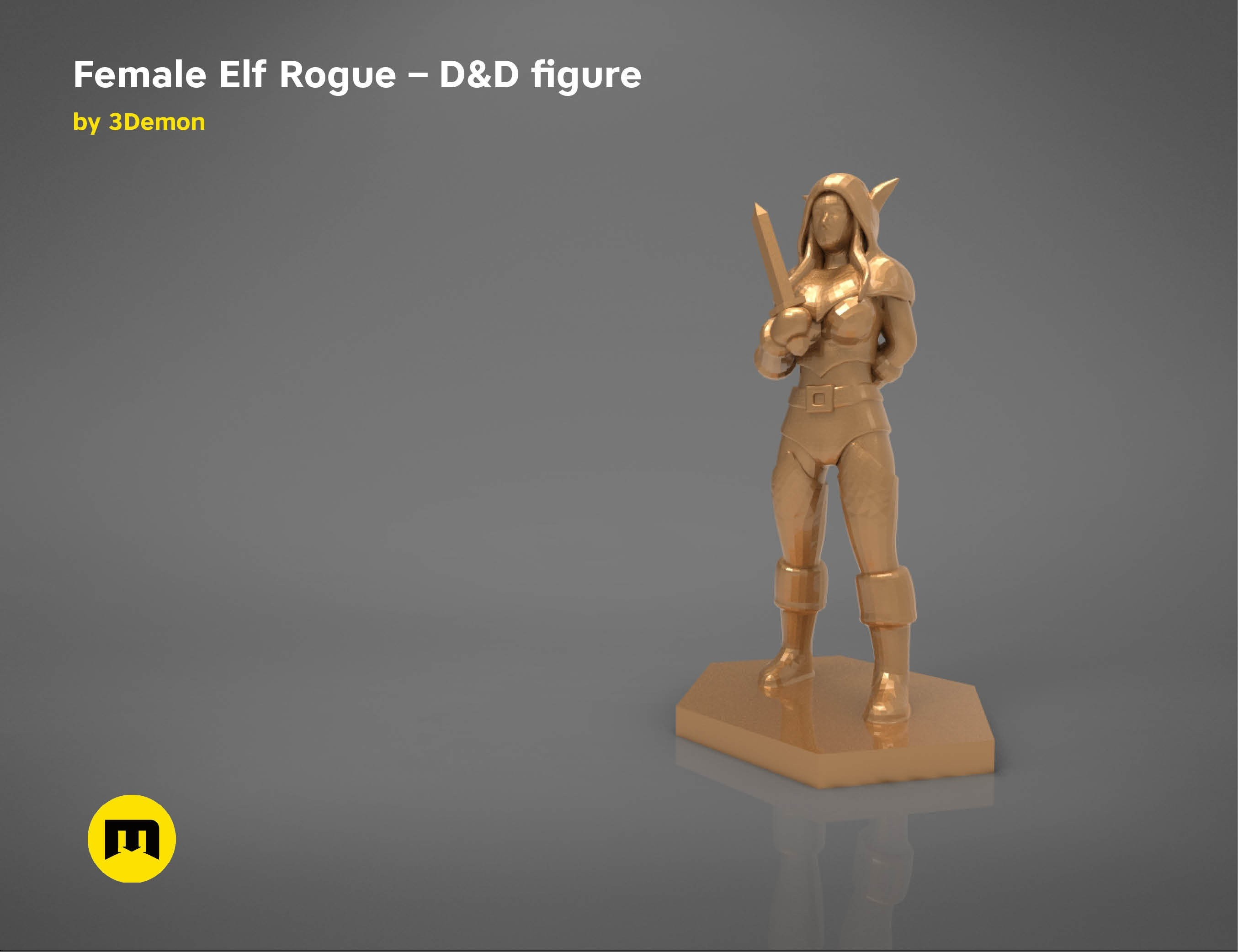 characters7.jpg Download STL file ELF ROGUE FEMALE CHARACTER GAME FIGURES 3D print model • 3D printer object, 3D-mon