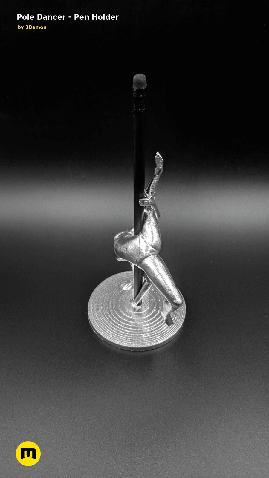 IMG_20190220_103202.png Download STL file Pole Dancer - Pen Holder • Object to 3D print, 3D-mon