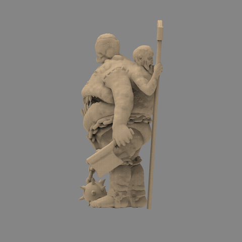fatman_scene.82.png Download STL file Pirfes figure - 3D print model • Design to 3D print, 3D-mon
