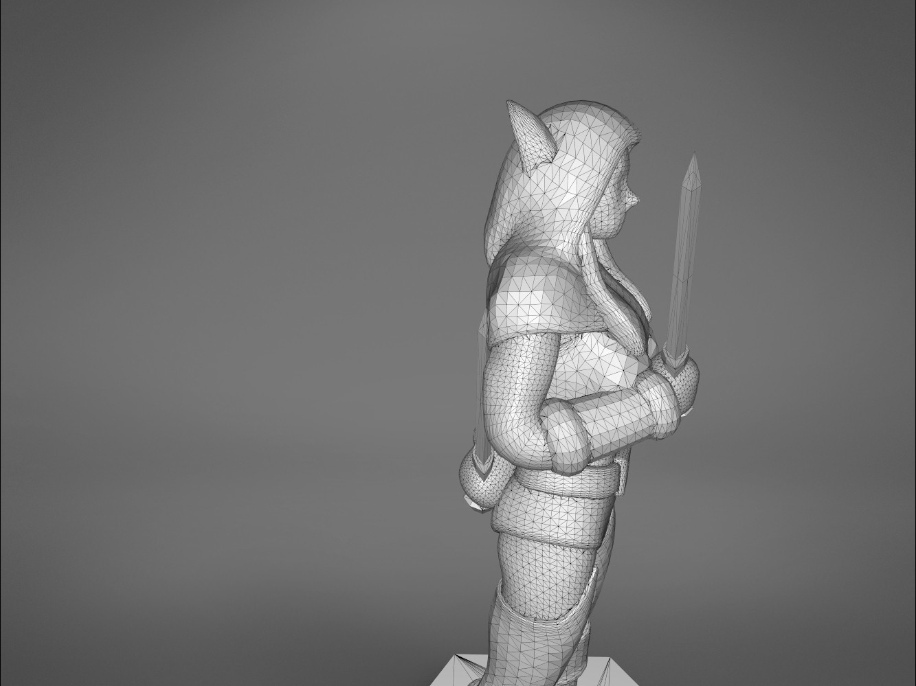 Rogue_2-detail_1.469.jpg Download STL file ELF ROGUE FEMALE CHARACTER GAME FIGURES 3D print model • 3D printer object, 3D-mon