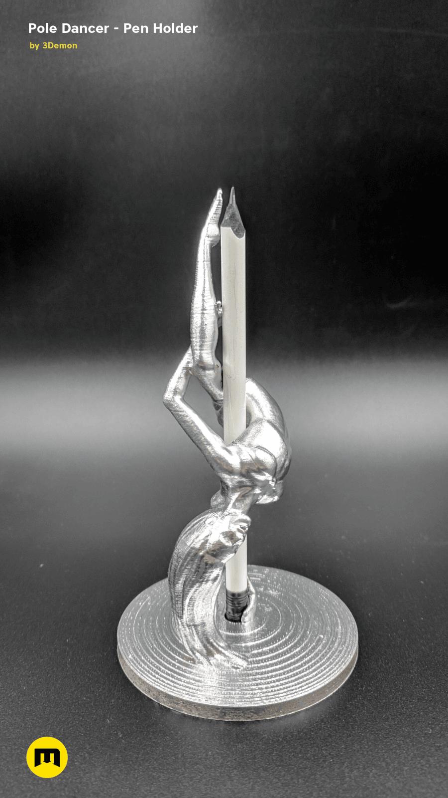 IMG_20190220_103341.png Download STL file Pole Dancer - Pen Holder • Object to 3D print, 3D-mon