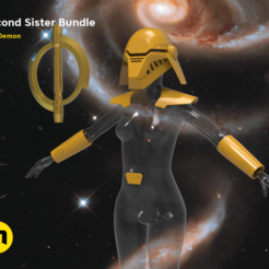 Second-Sister-Armor-main_render.1175.png Download OBJ file Second Sister Bundle • Model to 3D print, 3D-mon