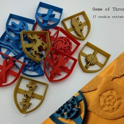 Download 3D model Game of Thrones cookie cutters, 3D-mon