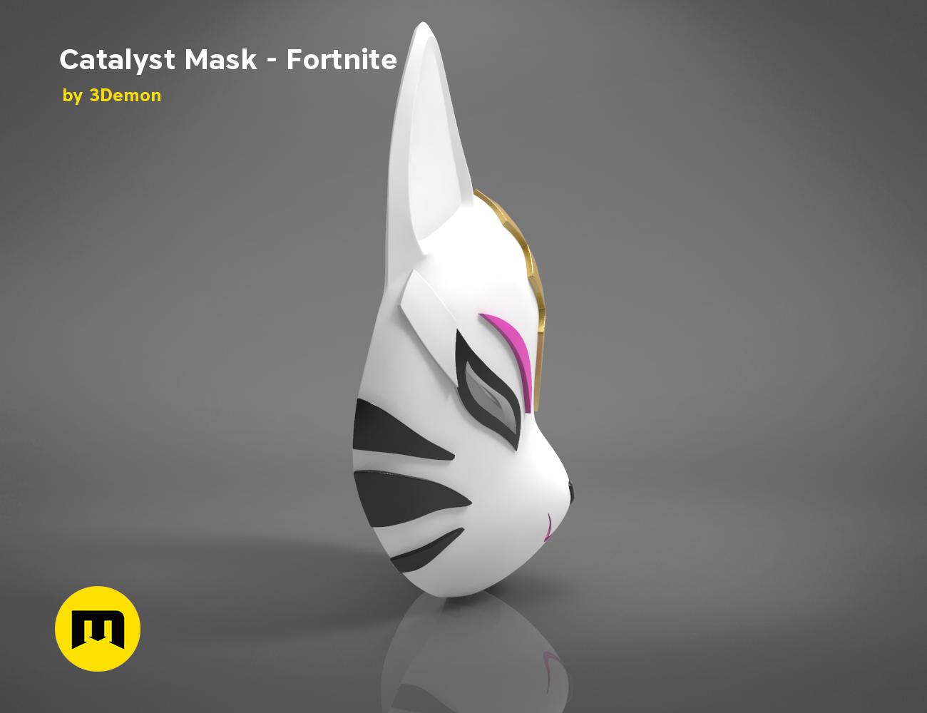 catalyst mask _ keyshot-left.418.png Download STL file Fortnite Catalyst Mask • 3D print model, 3D-mon