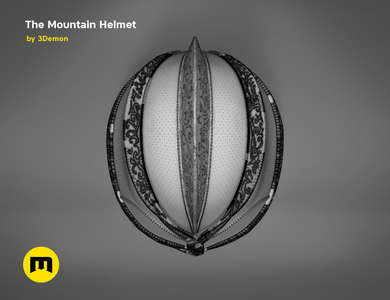 GoT-mountain-helmet-mesh.639.jpg Download STL file The Mountain Helmet – Game of Thrones • 3D printing model, 3D-mon
