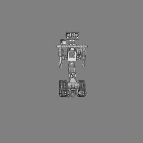 render_scene_gray_background_1300x1000.15.jpg Download STL file Johnny 5 - 3D print model • 3D printable template, 3D-mon