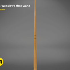 PETE_WAND-detail1.629.png Download STL file Ron Weasley's first Wand • 3D printing object, 3D-mon