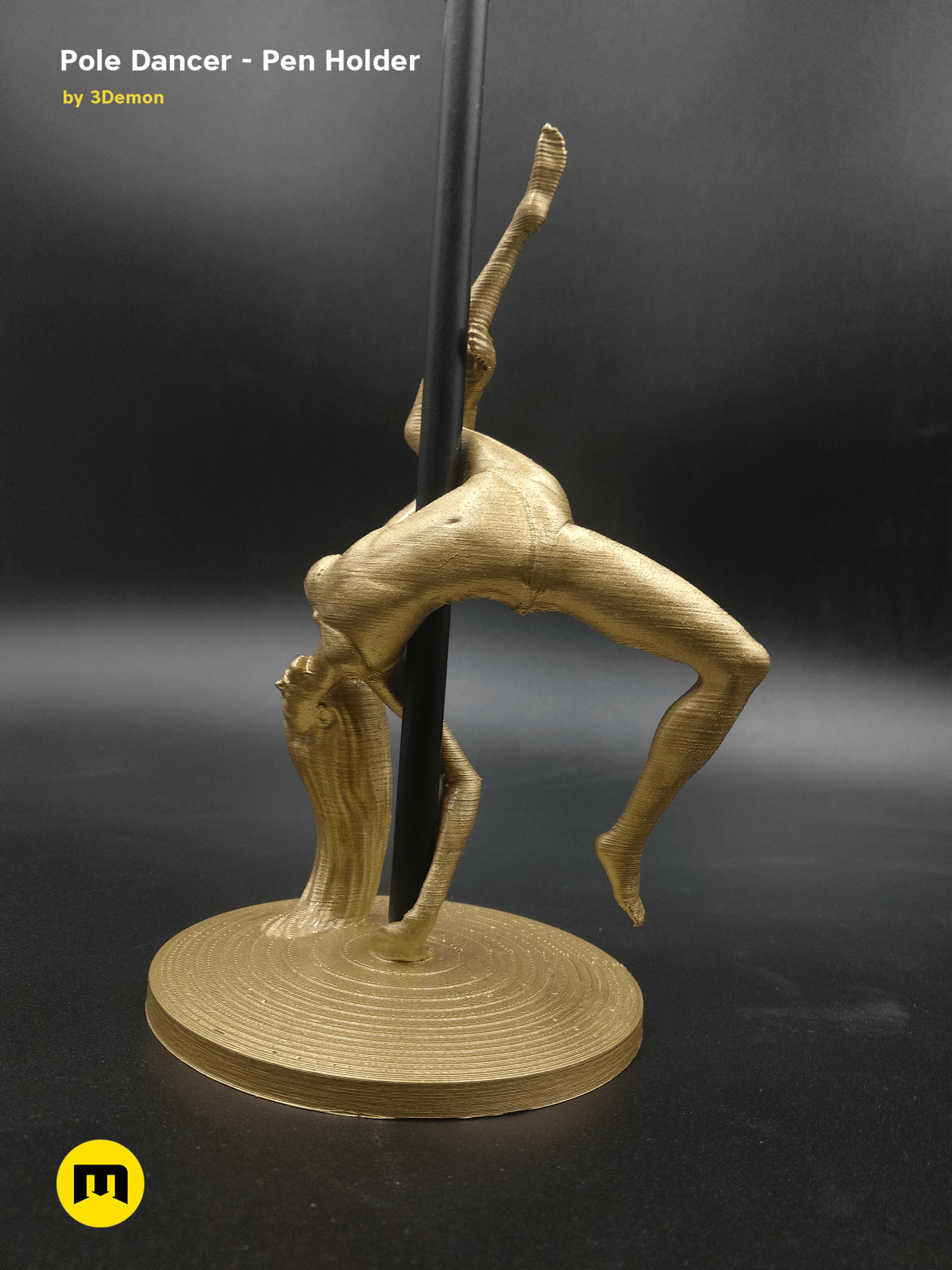 IMG_20190220_085210.png Download STL file Pole Dancer - Pen Holder • Object to 3D print, 3D-mon