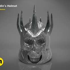 3D printer models Eredin's helmet - The Witcher Wild Hunt, 3D-mon