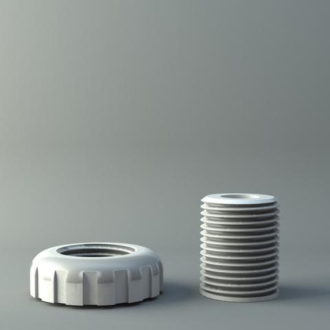 Télécharger modèle 3D gratuit nut and screw ( thread 11mm ), 3D-mon