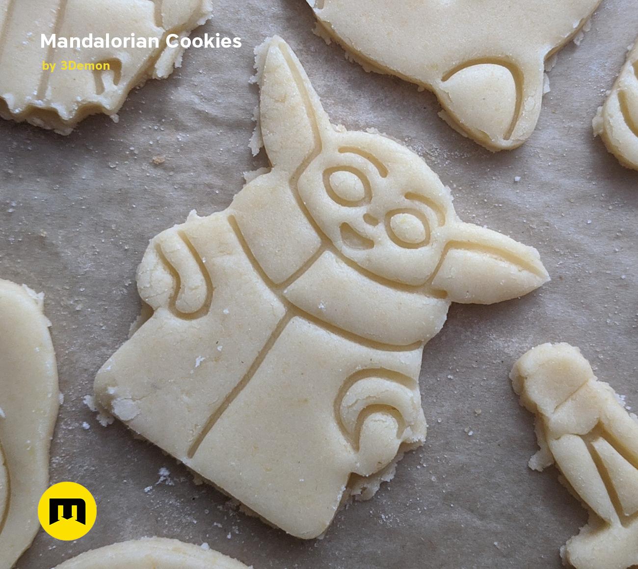 IMG_20191201_152645.png Download STL file Yoda Baby Cookie Cutter Mandalorian • 3D printer design, 3D-mon
