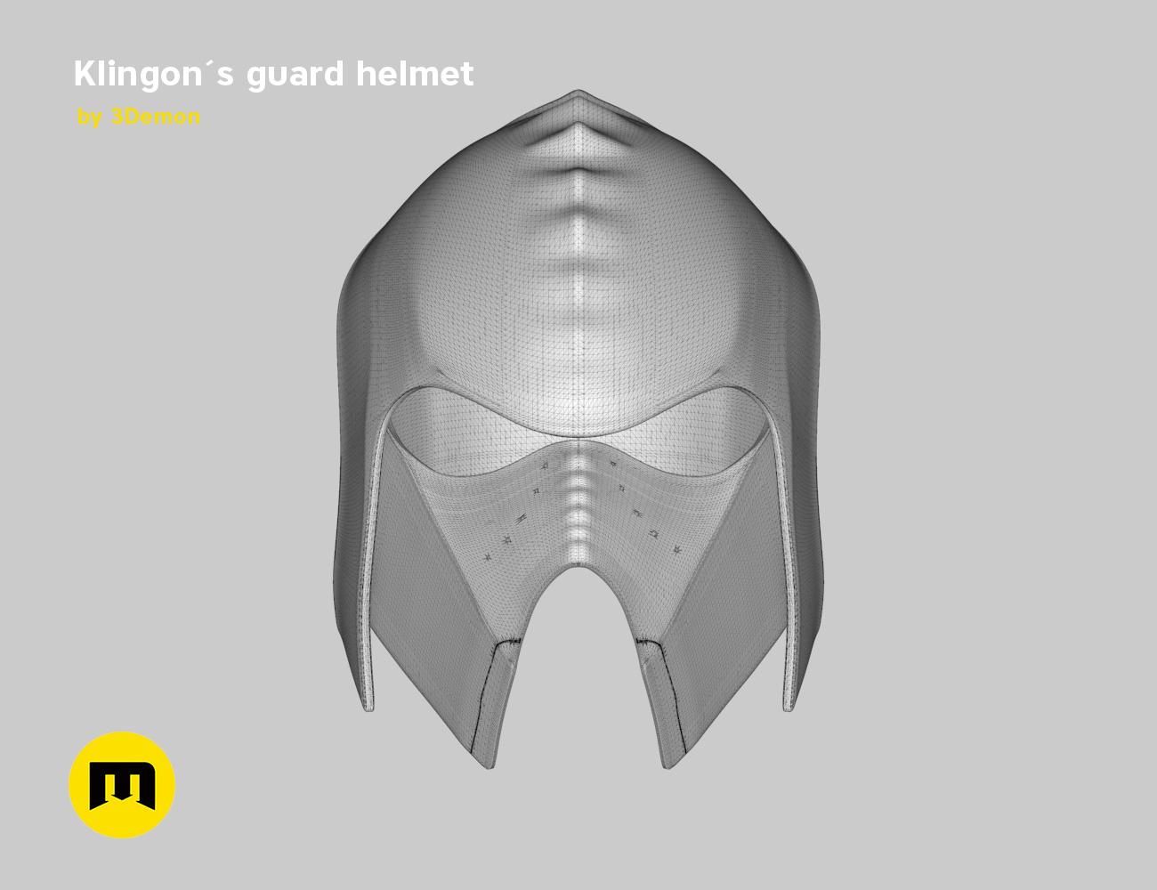 render_klingon_mesh.43.jpg Download STL file Klingon guard helmet • 3D printer object, 3D-mon