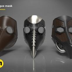 morove-masky-render.all.3.jpg Download STL file Plague mask • 3D printer design, 3D-mon