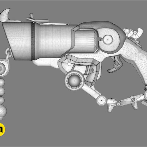 CGTrader_Roadhog_gun_bajie25.jpg Download STL file Overwatch Roadhog Gun Bajie • Model to 3D print, 3D-mon
