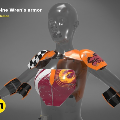 Sabine Wren's armor - The Star Wars wearable 3D PRINT MODEL
