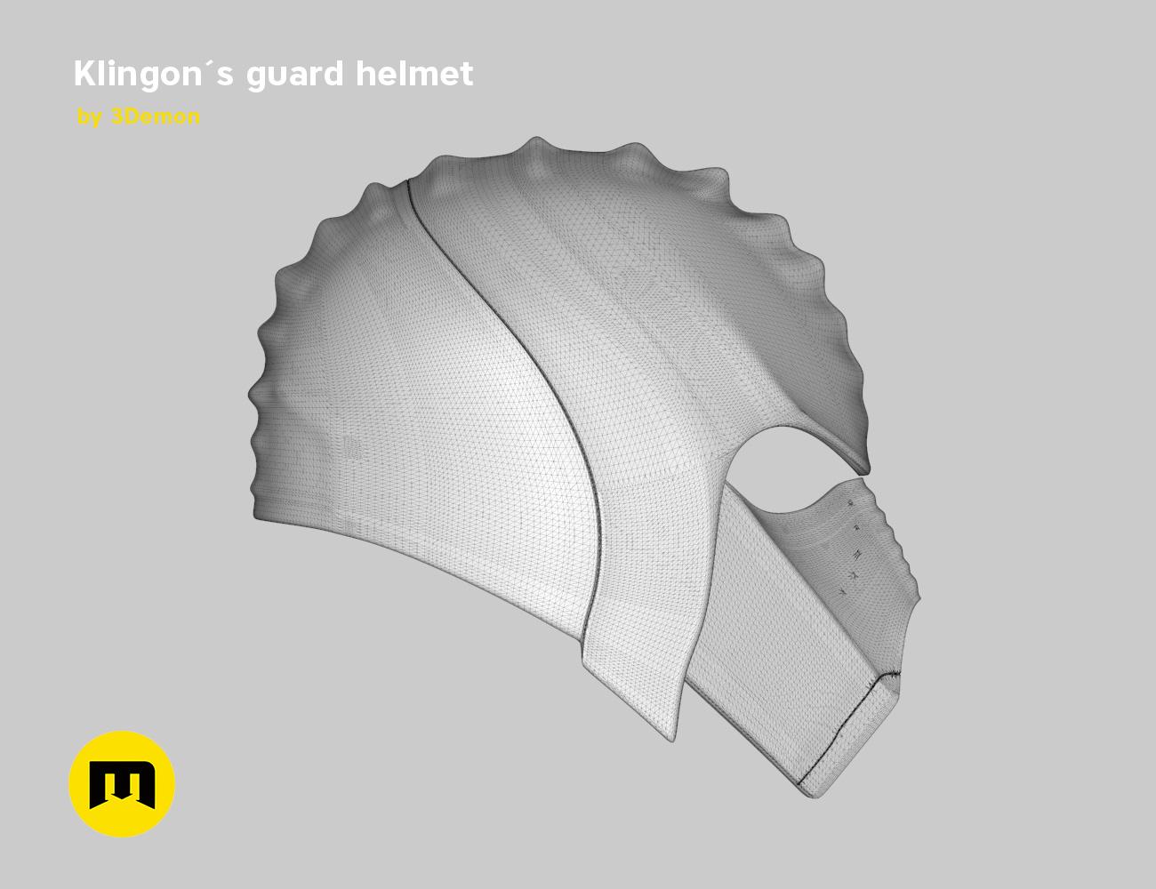 render_klingon_mesh.45.jpg Download STL file Klingon guard helmet • 3D printer object, 3D-mon