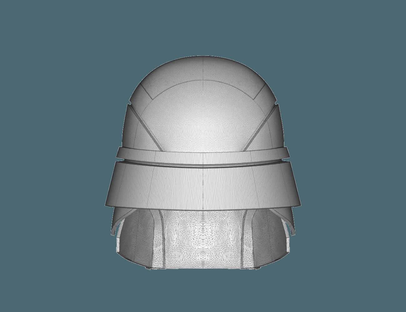 render_scene-back.10.png Download STL file Armory - Knights of Ren Helmet, StarWars model for 3D Print • 3D printing design, 3D-mon