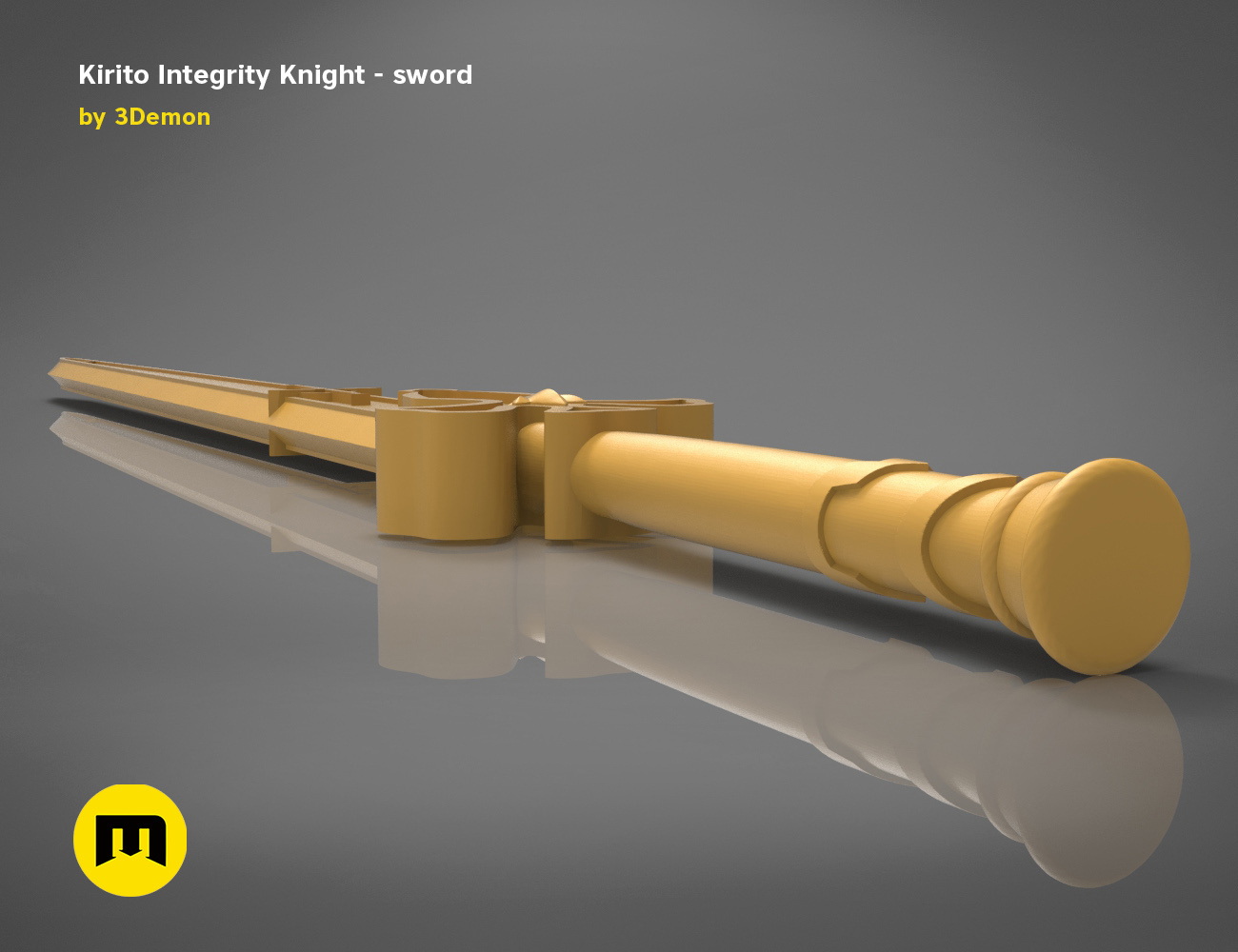 render_scene_Integrity-knight-sword-basic.18 kopie.jpg Download STL file Kirito's Sword - Integrity Knight • 3D print model, 3D-mon