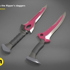 render_scene_jack_daggers-color.100.jpg Download STL file JACK THE RIPPER DAGGERS • 3D printing object, 3D-mon