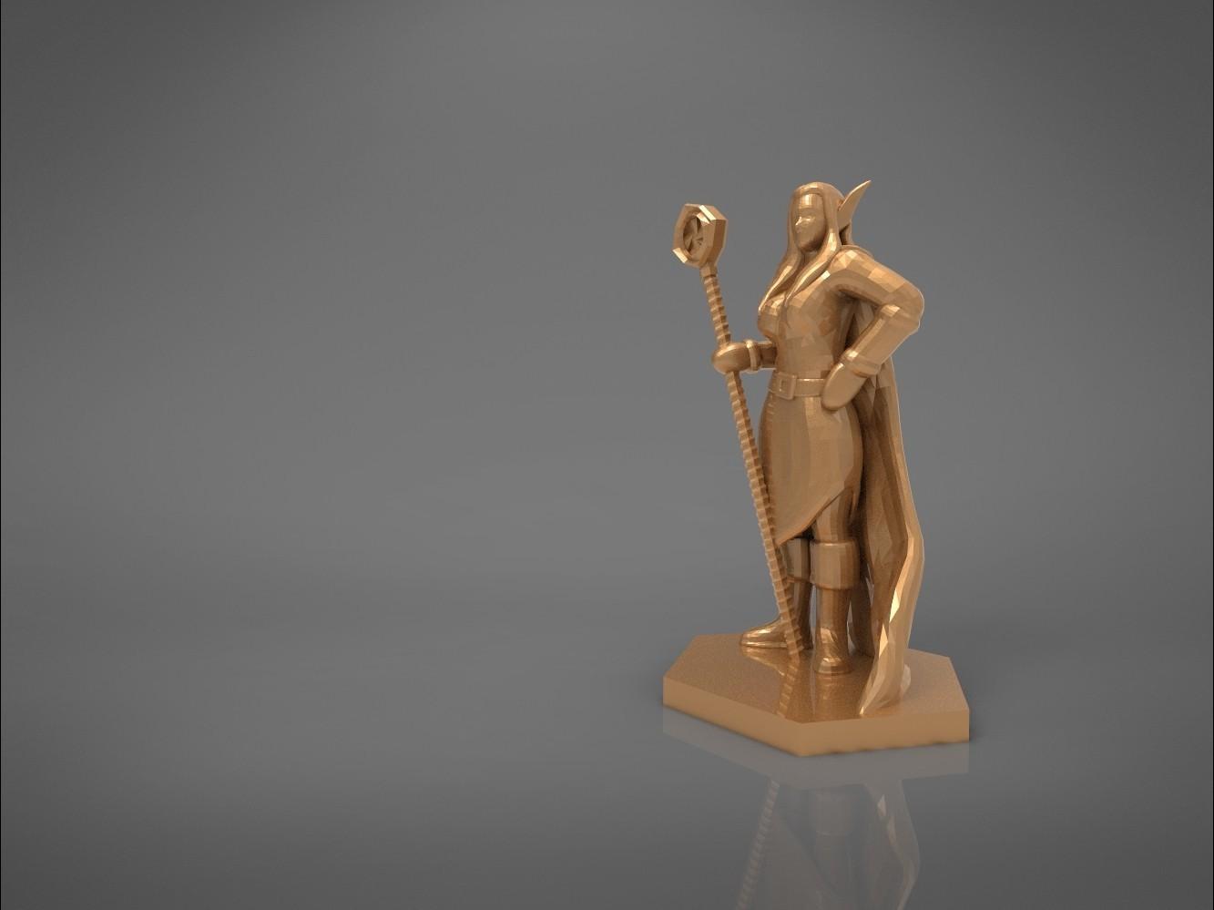 Mage_2_-main_render.165.jpg Download STL file ELF MAGE FEMALE CHARACTER GAME FIGURES 3D print model • 3D printing template, 3D-mon