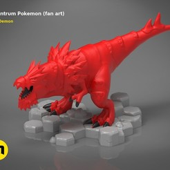 Download 3D printer files Tyrantrum Pokemon (fan art), 3D-mon