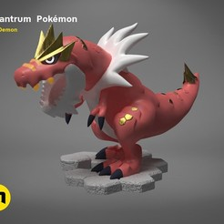 Download 3D printer templates Tyrantrum Pokemon , 3D-mon