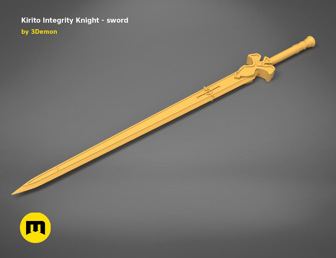 render_scene_Integrity-knight-sword-basic.16 kopie.jpg Download STL file Kirito's Sword - Integrity Knight • 3D print model, 3D-mon