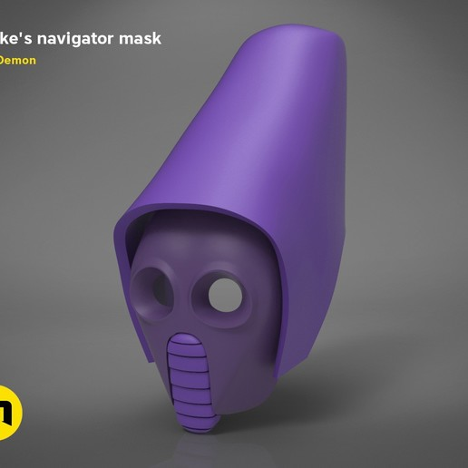 Télécharger fichier imprimante 3D Masque Navigateur Snokes - Star Wars, 3D-mon