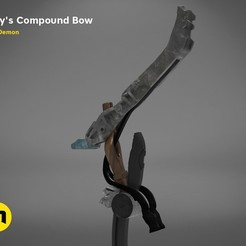 Download 3D print files Aloy's compound bow - Horizon Zero Dawn, 3D-mon