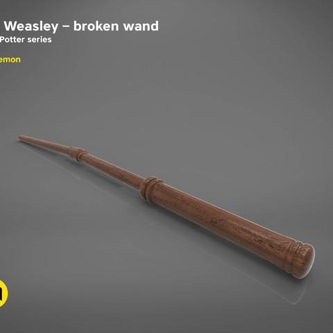title_page2.jpg Download STL file Ron Weasley broken wand - Harry Potter films 3D print model • 3D print design, 3D-mon
